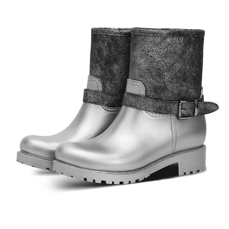 Booties Rain Herty Silver