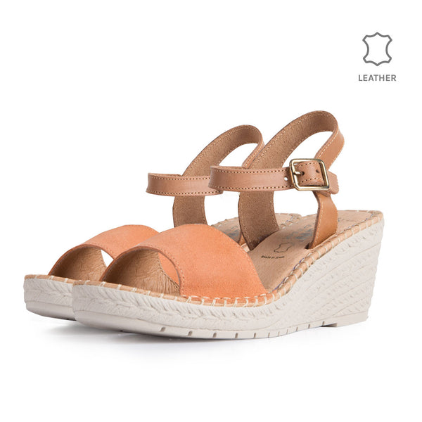 Wedge Gavi Nude Leather