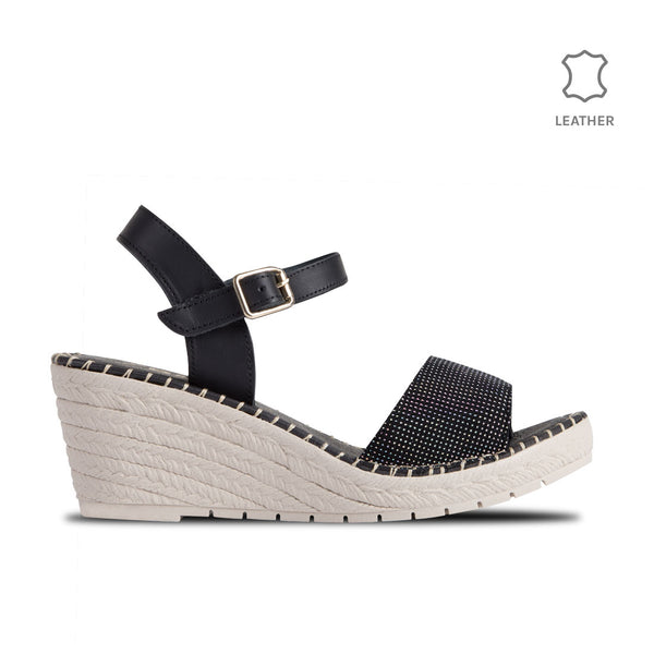 Wedge Gavi Black Dots Leather