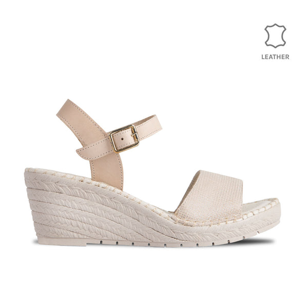 Wedge Gavi Beige Dots Leather