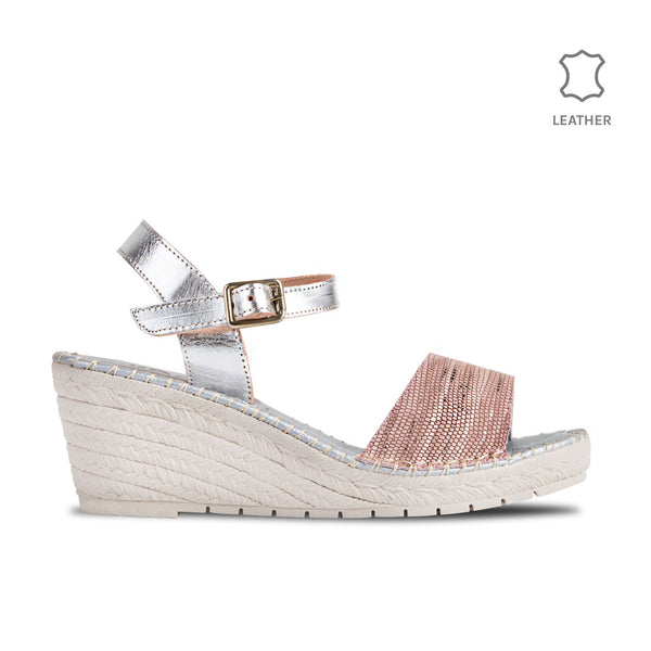 Wedge Gavi Nude Metal Leather