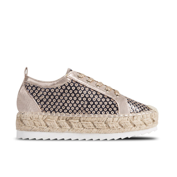 Sporty Espadrilles Kea Black Sequins