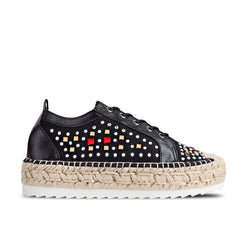 Sporty Espadrilles Kea Black Strass