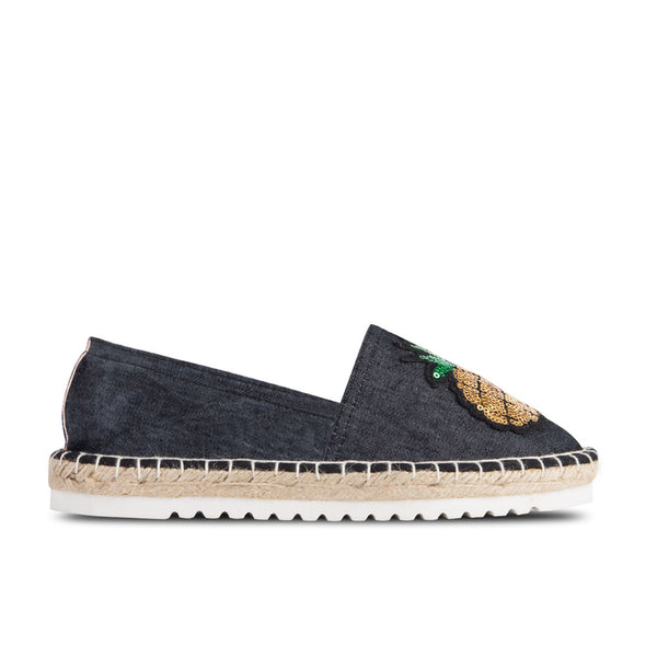 Espadrilles Kea Black Sequin Patches