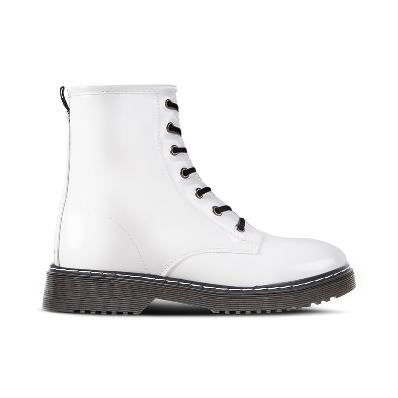 Boots Moss White