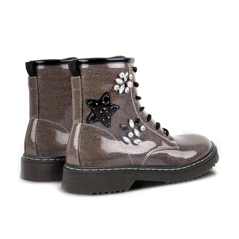 Boots Moss Patches Silver