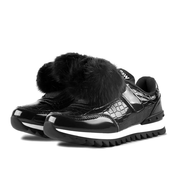 Sneakers Sziget Pompoms Black