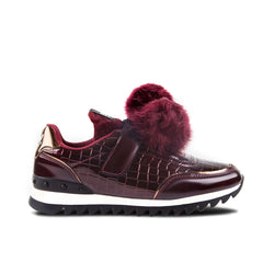 Sneakers Sziget Pompoms Maroon