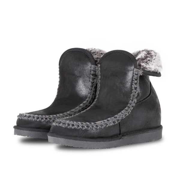 Booties Nanuk Wedge Black