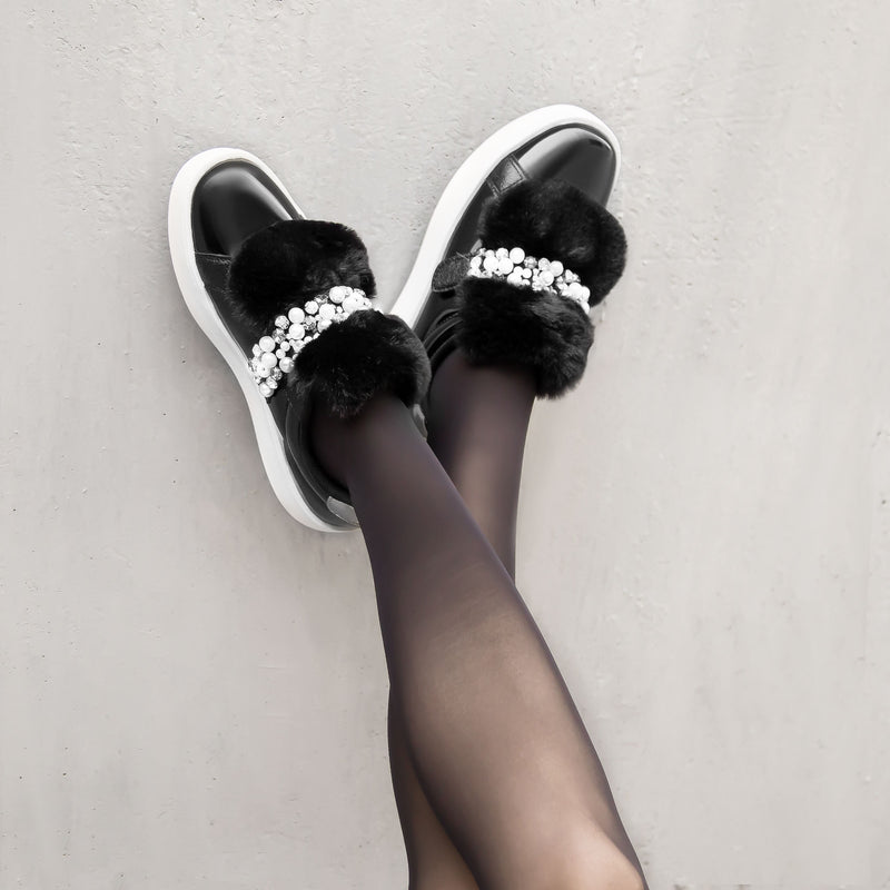 Sneakers Damsel Black Fur