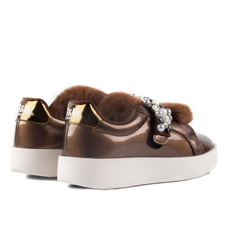 Sneakers Damsel Bronze Fur