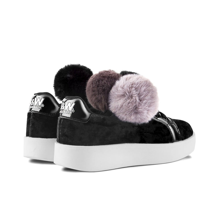 Sneakers Damsel Pompoms Black