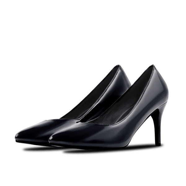 Heel Shoes Lina Patent Leather Black