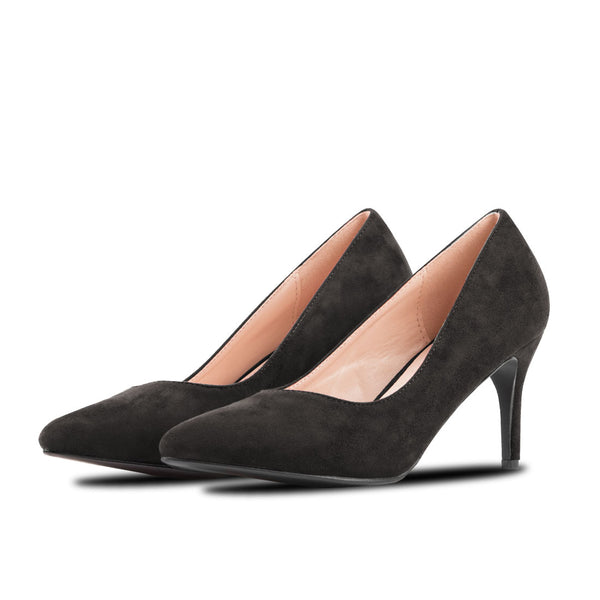 Heel Shoes Lina Black Suede