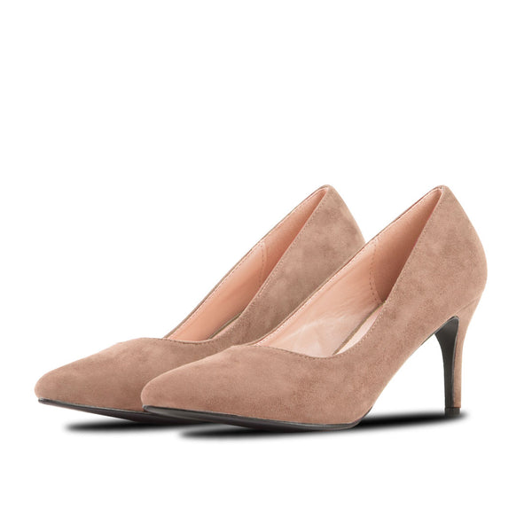 Heel Shoes Lina Beige Suede