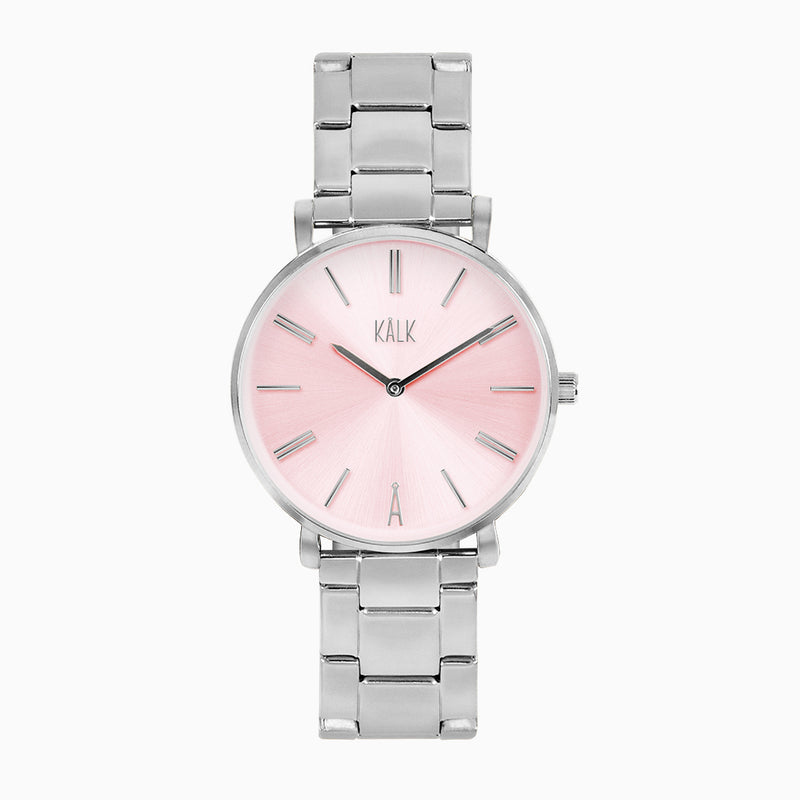 Classy Silver / Light Pink Watch