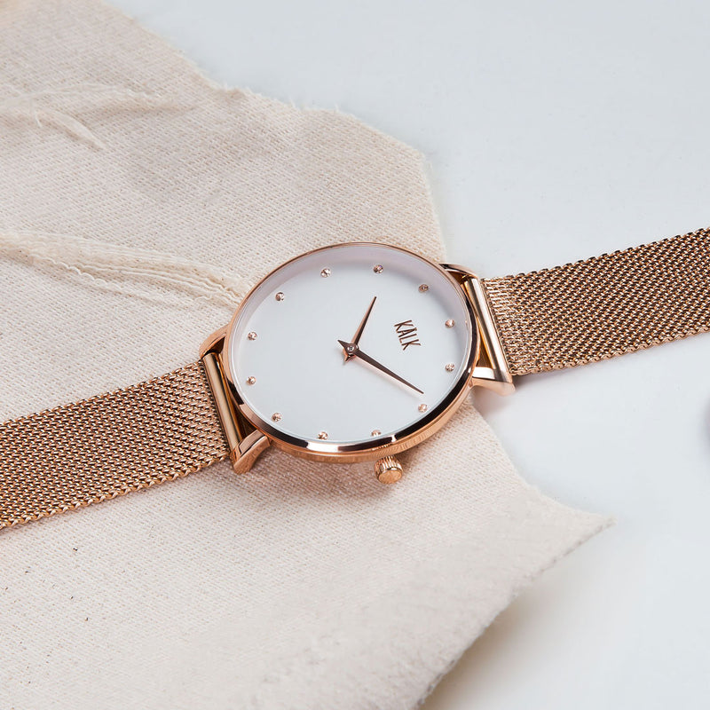 Dreamy Rose Gold / White Watch