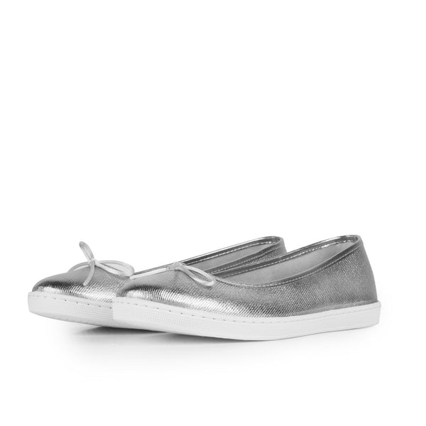 Ballerinas Carrie Metal Silver