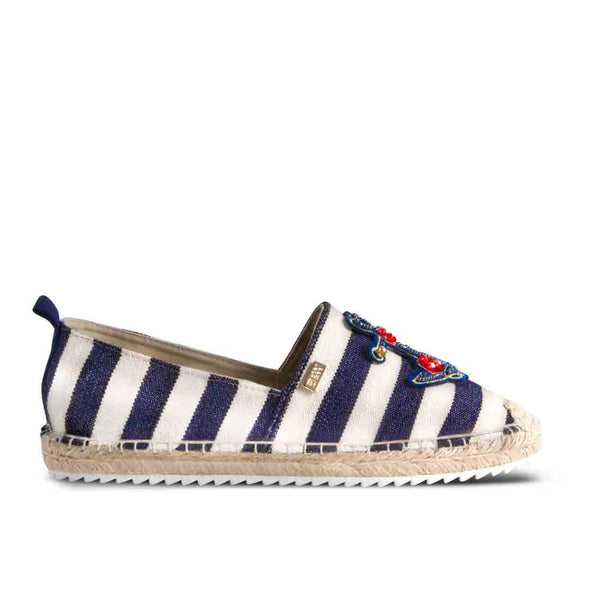 Espadrilles Creta Navy Stripes