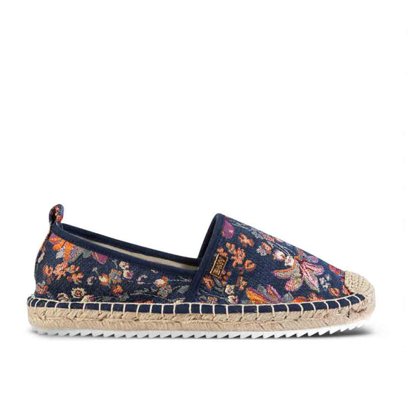 Espadrilles Creta Denim Flowers