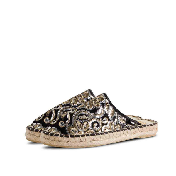 Espadrilles Lime Embroidered