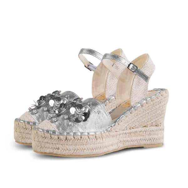Wedge Shoe Espadrilles Elba Metal