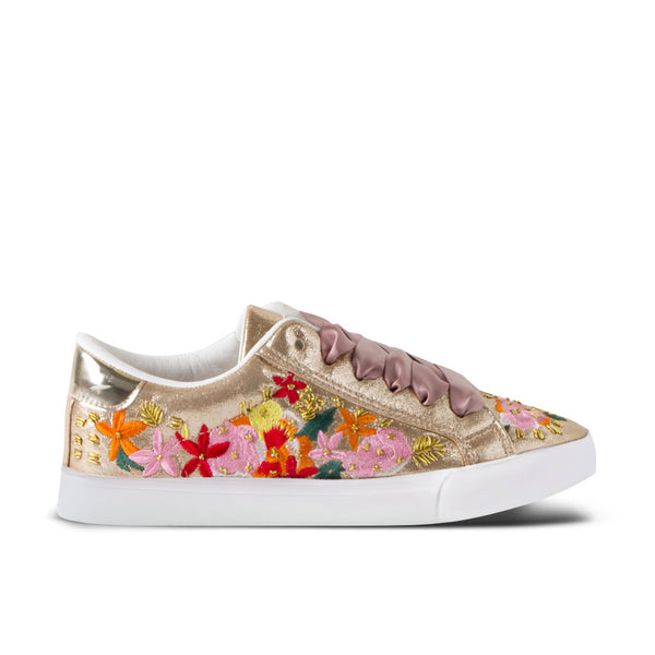 Sneakers Bloom Embroidery Platinum