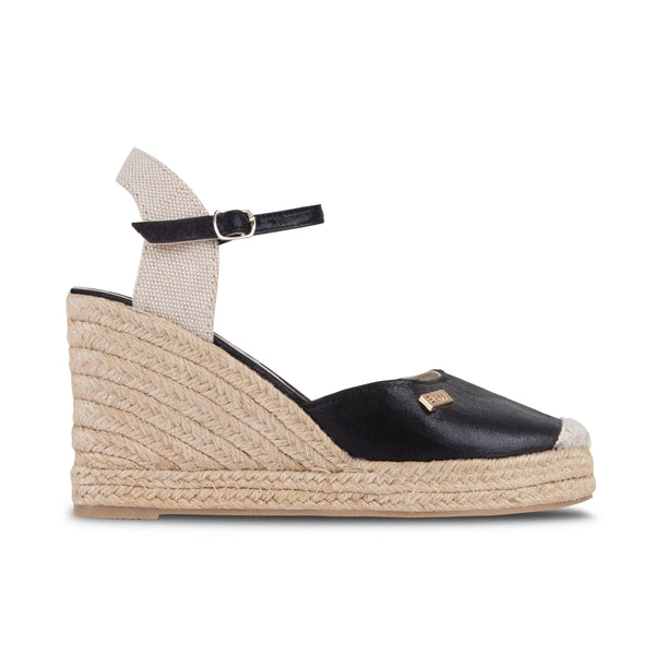 Wedge Shoe Espadrilles Capri Black