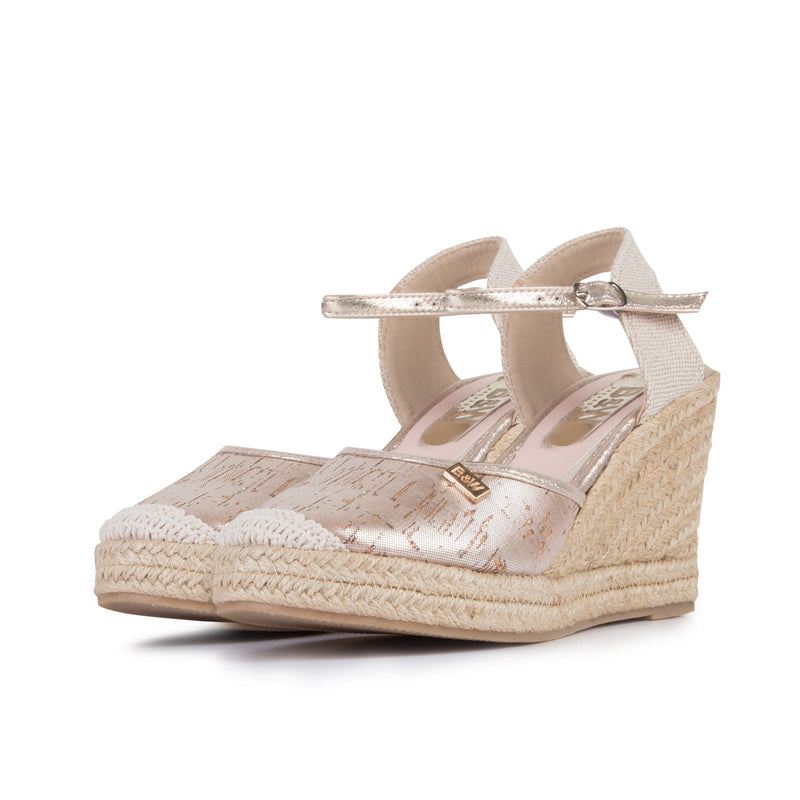 Wedge Shoe Espadrilles Capri Metal