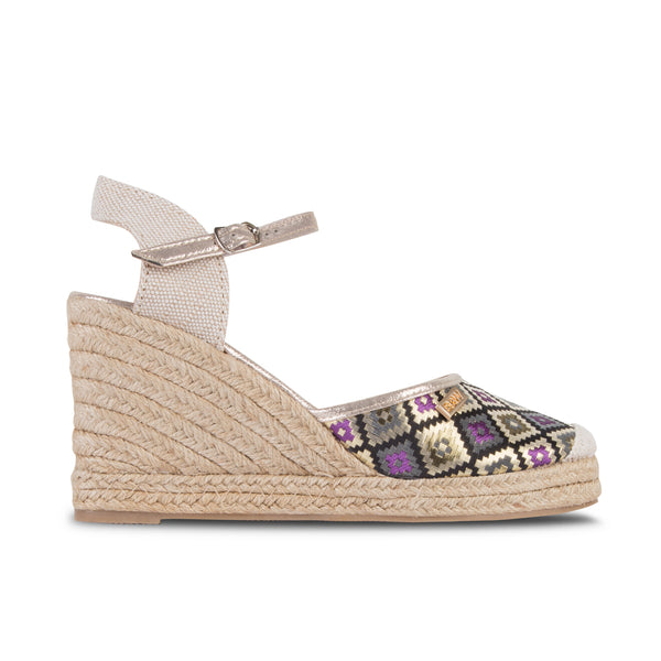 Wedge Shoe Espadrilles Capri Geometric