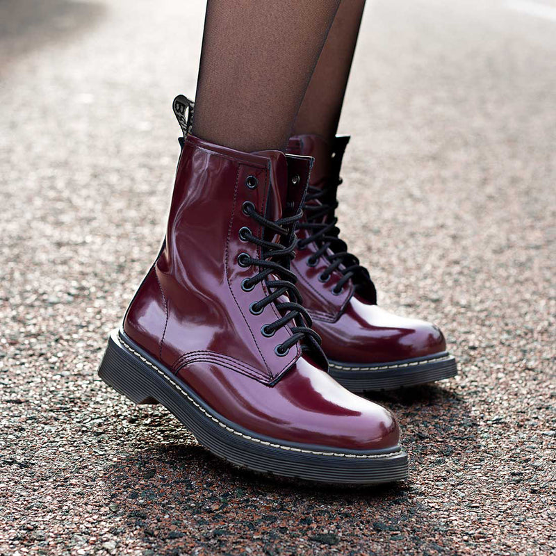 Boots Moss Maroon