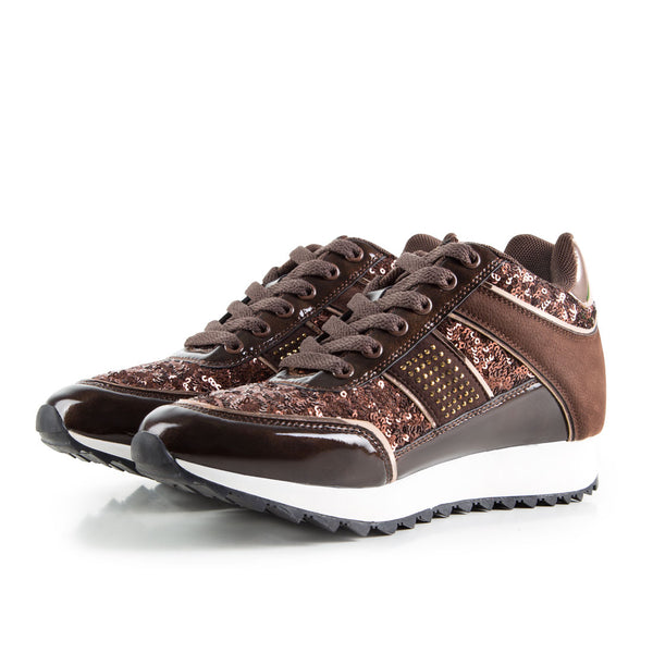 Sneakers Rockslide Sequins Brown