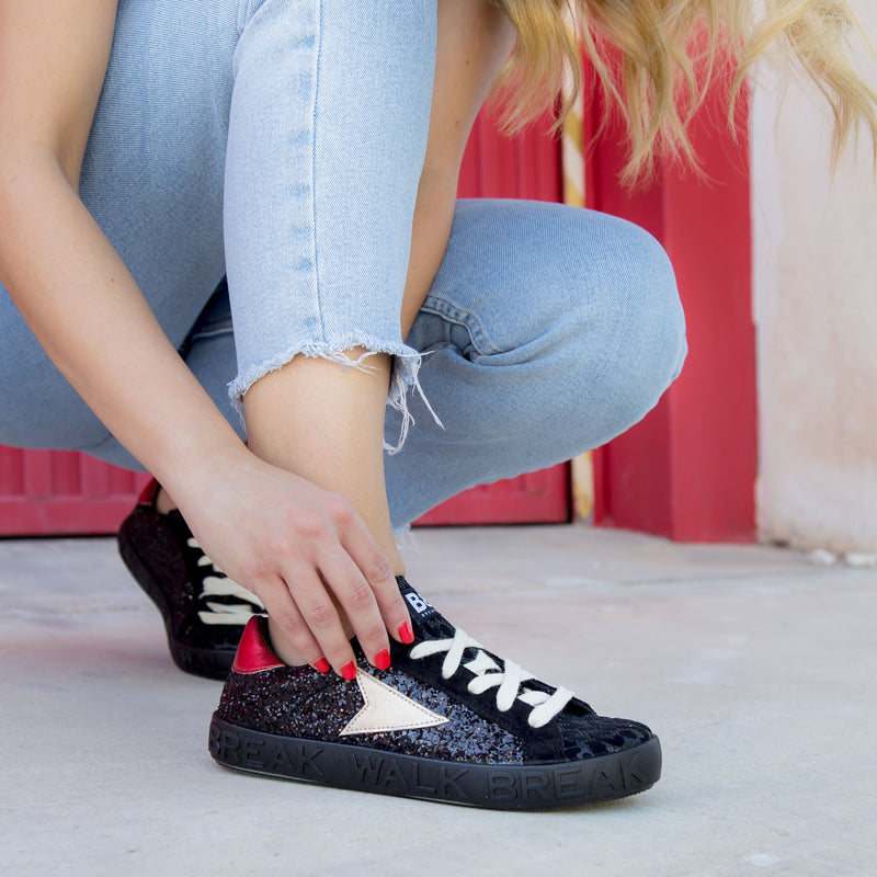 Sneakers Ruby Glitter  Black