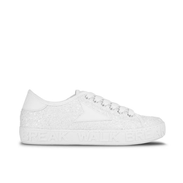 Sneakers Wicker White Glitter