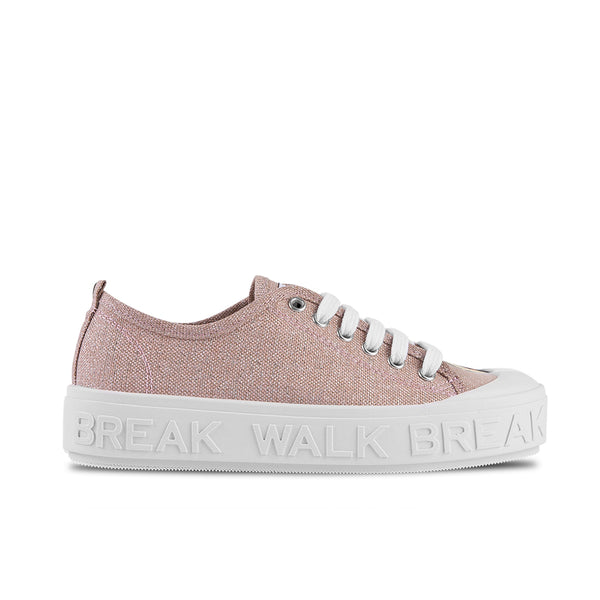Sneakers Wicker Metal Pink