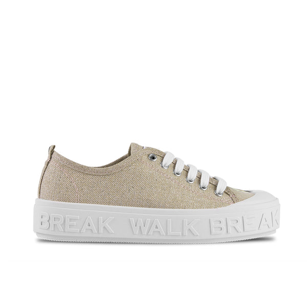 Sneakers Wicker Metal Gold