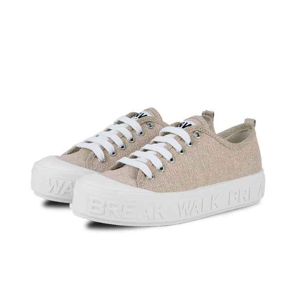 Sneakers Wicker Metal Oro
