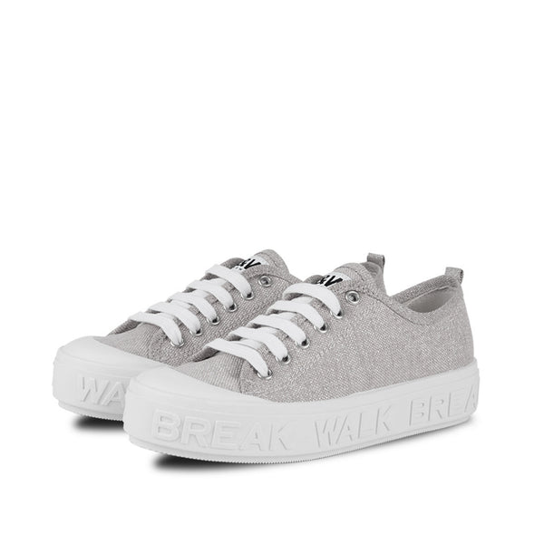 Sneakers Wicker Metal Silver