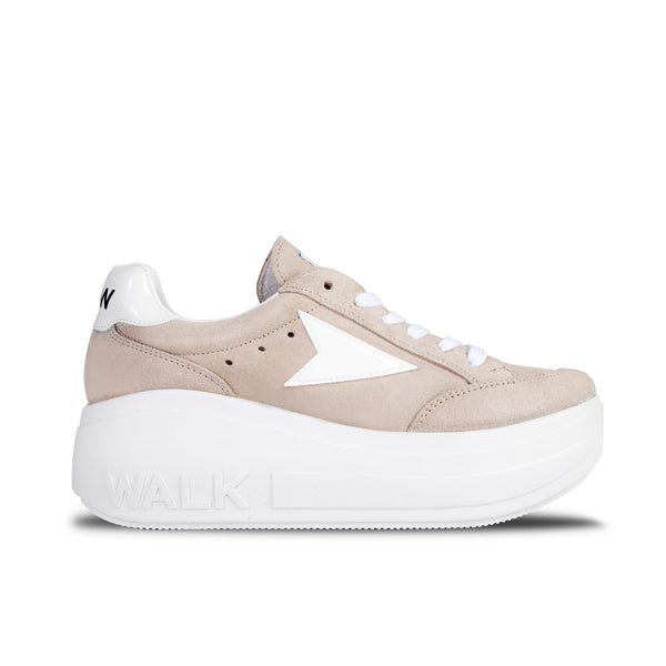 Sneakers Wicker Platform Beige
