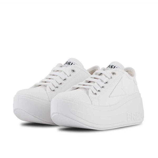 Sneakers Wicker Platform White