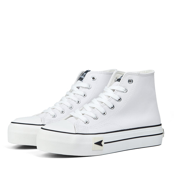Sneakers Bay High Top Platform White Nappa