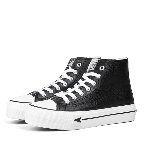 Sneakers Bay High Top Platform Black Nappa
