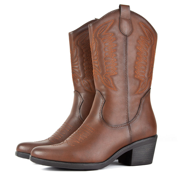 Boots Cowboy West Brown