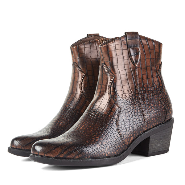 Ankle Boots Cowboy West Brown