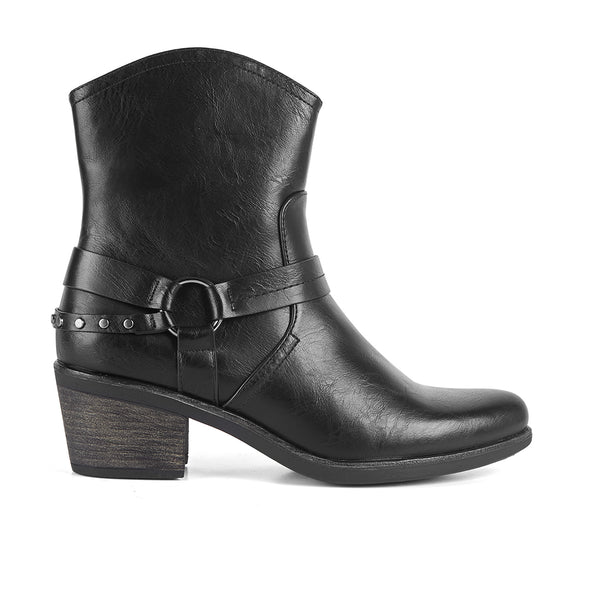 Ankle Boots Cowboy West Black Buffalo