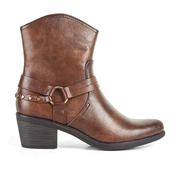 Ankle Boots Cowboy West Brown Buffalo