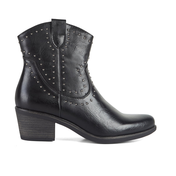 Ankle Boots Cowboy West Black Nappa