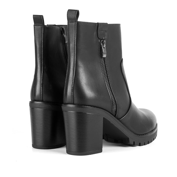 Ankle Boots Haute Black Zip