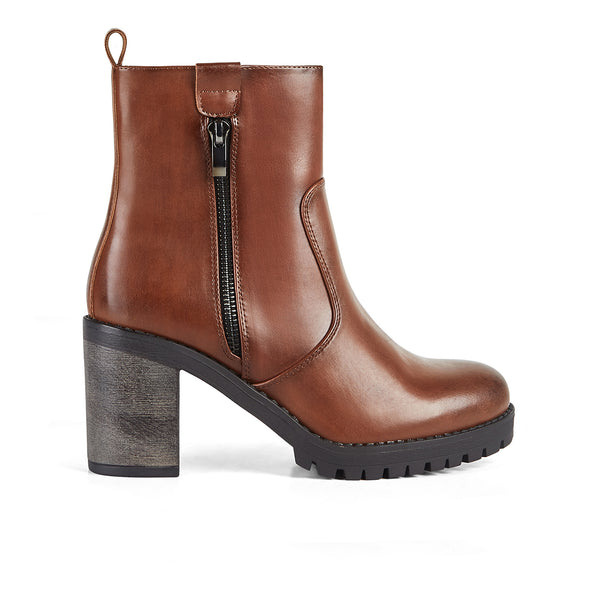 Ankle Boots Haute Brown Zip