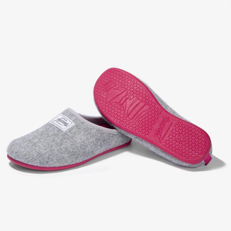 Mercredy Slipper Grey / Fuxia